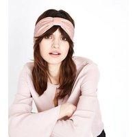 Pink Velvet Twist Knot Headband New Look