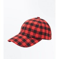 Red Check Cap New Look