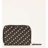 Black Ditsy Floral Card Holder New Look