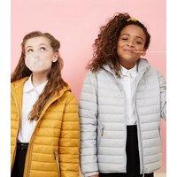 Girls Mustard Lightweight Hooded Puffer Jacket New Look