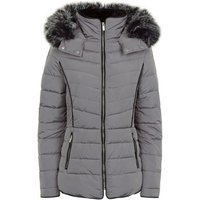 Tall Pale Grey Padded Puffer Jacket New Look