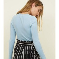 petite-pale-blue-crew-neck-ribbed-top-new-look