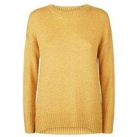 Petite Mustard Longline Knit Jumper New Look