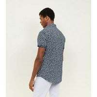 Navy Ditsy Floral Short Sleeve Shirt New Look