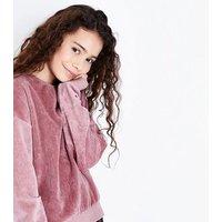 Teens Pale Pink Corduroy Sweatshirt New Look