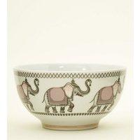 Pale Pink Elephant Tile Print Bowl New Look