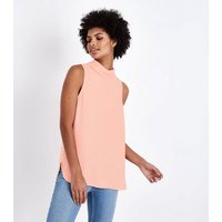 Coral Roll Neck Sleeveless Top New Look