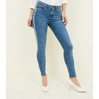 Blue Side Side Stripe Skinny Jenna Jeans New Look