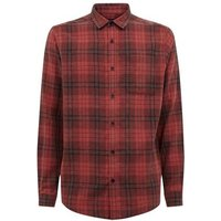 Red Washed Check Long Sleeve Shirt New Look