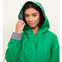 Petite Green Gingham Lined Anorak New Look
