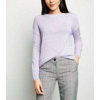 Lilac Longline Jumper New Look