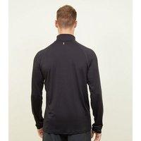 Men's Black Funnel Neck Long Sleeve Top New Look