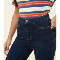 Petite Blue 26in High Waist Super Skinny Jeans New Look