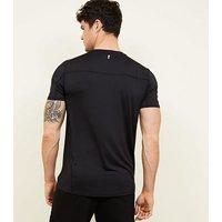 Black Sports Stretch T-Shirt New Look