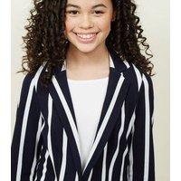 Teens Navy Stripe Blazer New Look