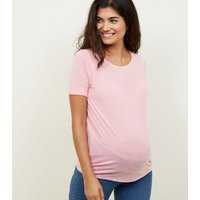 Maternity Pink Textured T-Shirt New Look