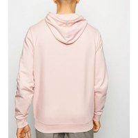 Men's Pale Pink Pocket Front Hoodie New Look