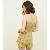 parisian-yellow-check-tie-side-bandeau-new-look