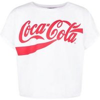 Girls White Coca Cola Logo T-Shirt New Look