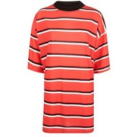 Pink Vanilla Red Stripe T-Shirt Dress New Look