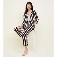 Cameo Rose Black Stripe Trousers New Look