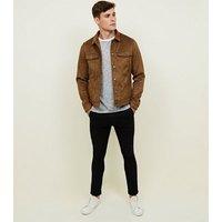Mens Tan Faux Suede Western Jacket New Look