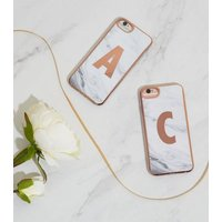White Marble Effect C Initial iPhone 6/6s/7/8 Case New Look