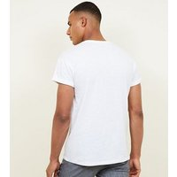 White Turn-up Sleeve Cotton T-Shirt New Look