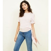 Pink Tie Side Short Sleeve Blouse New Look