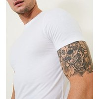 White Short Sleeve Muscle Fit T-Shirt New Look