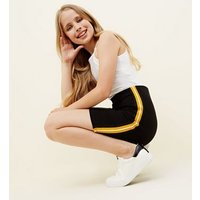 Teens Black Side Stripe Tube Skirt New Look