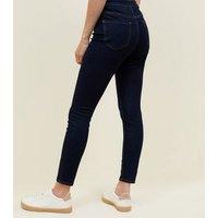Petite Blue Rinse Hallie 26 Inch Skinny Jeans New Look