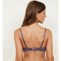 Light Purple Lace Push-Up Bra New Look