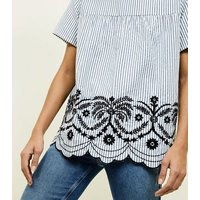 apricot-cream-stripe-embroidered-smock-top-new-look