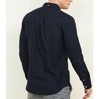 Navy Cotton Long Sleeve Oxford Shirt New Look