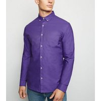 Purple Cotton Long Sleeve Oxford Shirt New Look