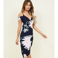 AX-Paris-Navy-Floral-Crepe-Wrap-Front-Dress-New-Look
