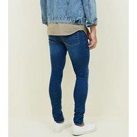 Bright Blue Super Skinny Stretch Jeans New Look