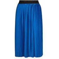 JDY Bright Blue Pleated Midi Skirt New Look