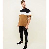 Camel Colour Block T-Shirt New Look