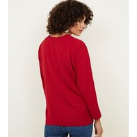 Red Single Button Blouse New Look