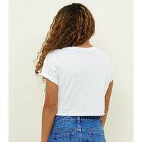 Girls White Merci Motorcross Logo T-Shirt New Look