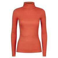 Orange Ribbed Roll Neck Top New Look