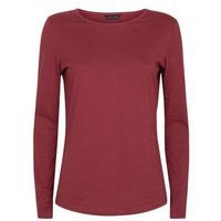 Burgundy Long Sleeve Crew Neck T-Shirt New Look