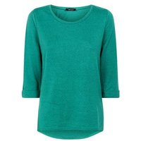 green-34-sleeve-fine-knit-top-new-look