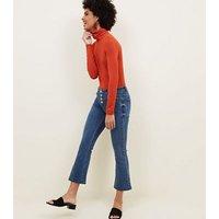 Orange Roll Neck Top New Look