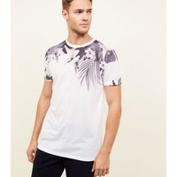 White Tropical Floral Short Sleeve T-Shirt New Look