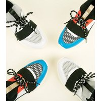 Grey Limited Edition Colour-Block Chunky Trainers New Look