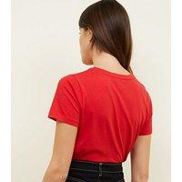 Red Zebra Print Wild Ones Slogan T-Shirt New Look