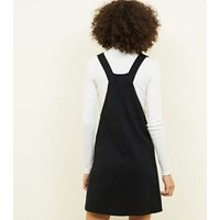 Black-Round-Buckle-Pinafore-Dress-New-Look